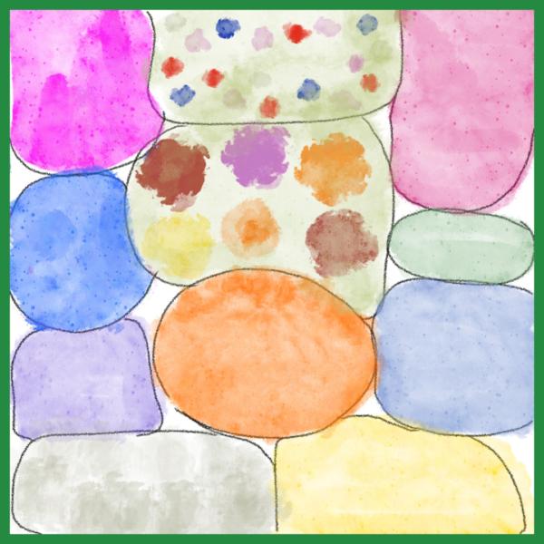 pluktuinontwerp mix van kleuren